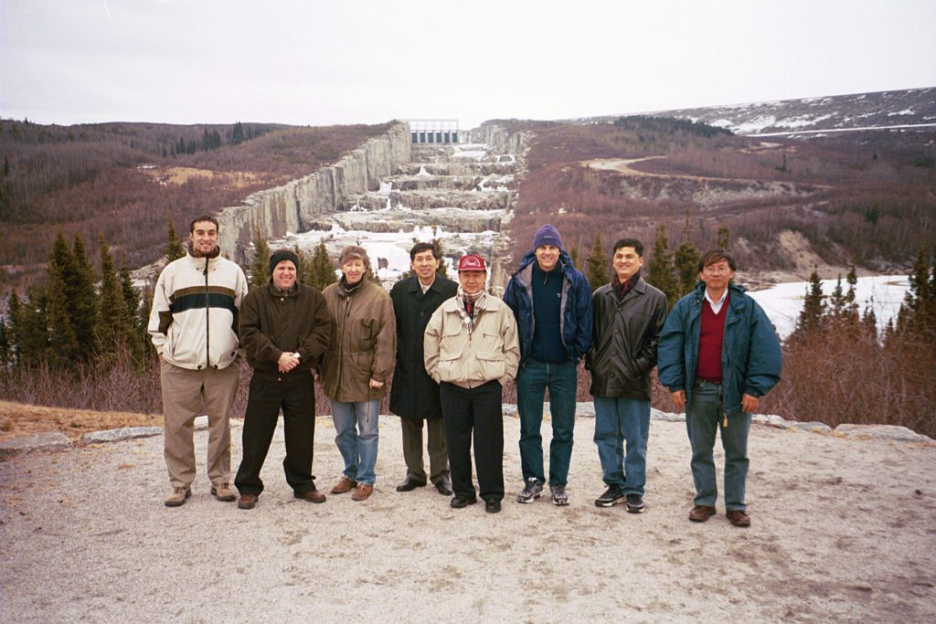 Stephane Asselin (third from right) working on a project in Quebec, Canada. Photo courtesy of Stephane Asselin.